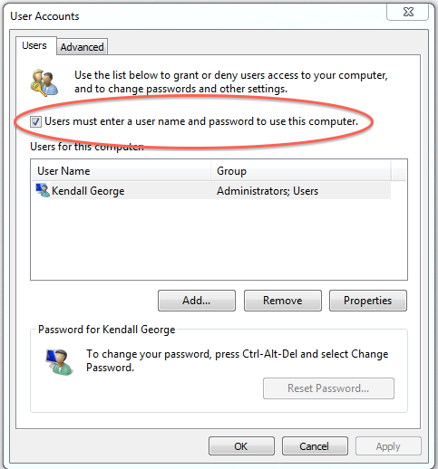 georges' blog » Logging in Automatically and Other Windows